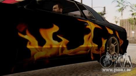 Vinyle pour Elegy - la Flamme pour GTA San Andreas sur la vue arrière gauche