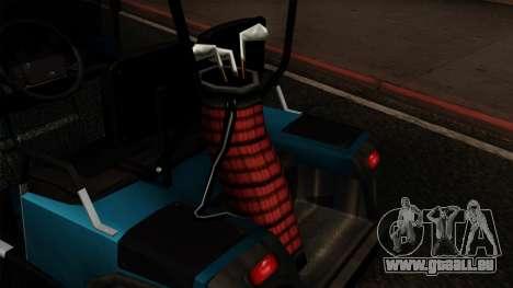 E-Z-GO Golf Cart v1.1 pour GTA San Andreas vue arrière
