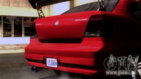 GTA 5 Declasse Asea für GTA San Andreas Innenansicht