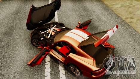 Dodge Viper SRT GTS 2013 IVF (MQ PJ) HQ Dirt pour GTA San Andreas vue de dessus