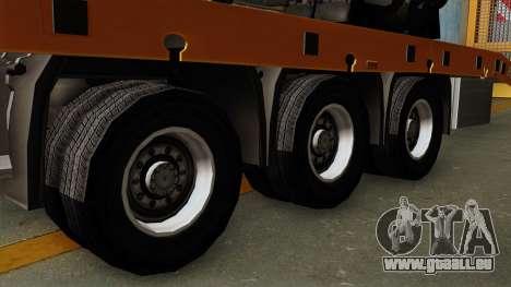 Trailer Fliegl Cargo für GTA San Andreas zurück linke Ansicht