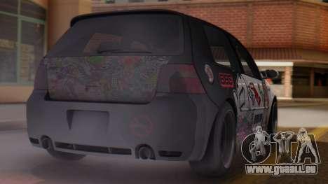 Volkswagen Golf R32 JDM Itasha pour GTA San Andreas laissé vue