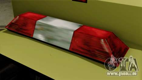 SAFD SAX Rescue Ambulance pour GTA San Andreas vue arrière