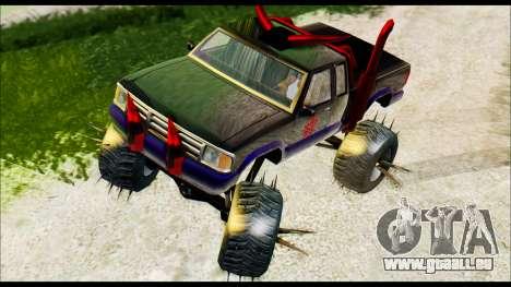 Predaceptor Monster Truck (Saints Row GOOH) pour GTA San Andreas sur la vue arrière gauche
