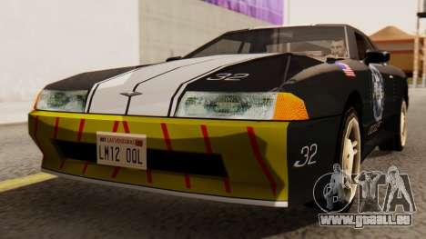 Elegy Police Edition für GTA San Andreas rechten Ansicht