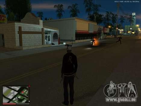 La folie dans l'état de San Andreas. La bêta. pour GTA San Andreas troisième écran