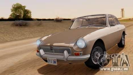 MGB GT (ADO23) 1965 HQLM für GTA San Andreas zurück linke Ansicht