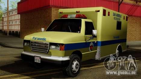 SAFD SAX Rescue Ambulance pour GTA San Andreas