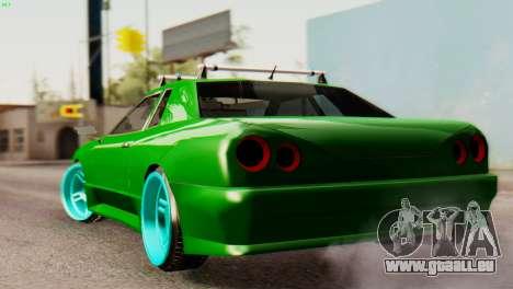 Elegy Korch New Wheel pour GTA San Andreas sur la vue arrière gauche