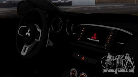 Mitsubishi Lancer Evo X Chinese Police für GTA San Andreas rechten Ansicht