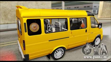 GAZelle 3221 2007 Final pour GTA San Andreas sur la vue arrière gauche