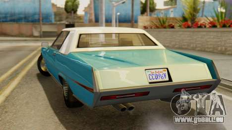 GTA 5 Albany Manana IVF pour GTA San Andreas sur la vue arrière gauche