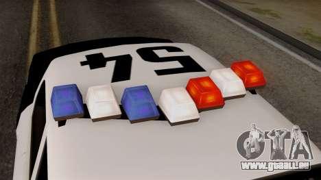 GTA 5 LS Police Car für GTA San Andreas Rückansicht