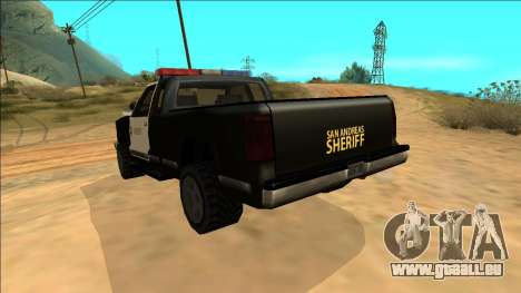 New Yosemite Police v2 pour GTA San Andreas vue de dessous
