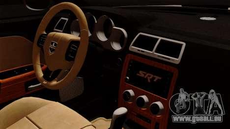 Dodge Challenger SRT8 392 2012 Stock Version 1.0 pour GTA San Andreas vue de droite