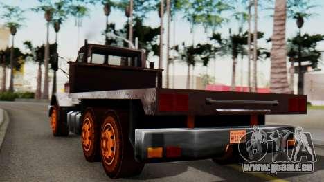 Flatbed 1.0 pour GTA San Andreas laissé vue