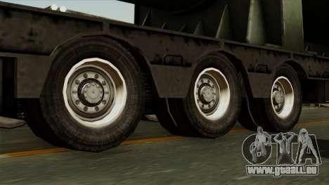 Trailer Cargos ETS2 New v3 pour GTA San Andreas sur la vue arrière gauche