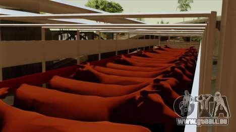 Trailer Cows pour GTA San Andreas vue intérieure