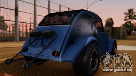 Citroen 2CV (jian) Drag Style Edition pour GTA San Andreas laissé vue