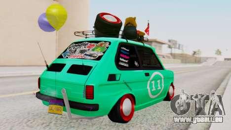 Fiat 126 bis B. O. de la Construction pour GTA San Andreas laissé vue