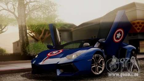 Lamborghini Aventador LP 700-4 Captain America für GTA San Andreas obere Ansicht