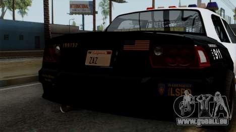 GTA 5 LS Police Car für GTA San Andreas Innenansicht