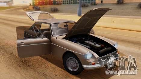 MGB GT (ADO23) 1965 HQLM für GTA San Andreas Rückansicht