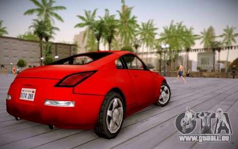 Nissan 350Z SA Style pour GTA San Andreas laissé vue