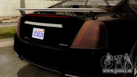 GTA 5 Albany Alpha v2 IVF pour GTA San Andreas vue arrière