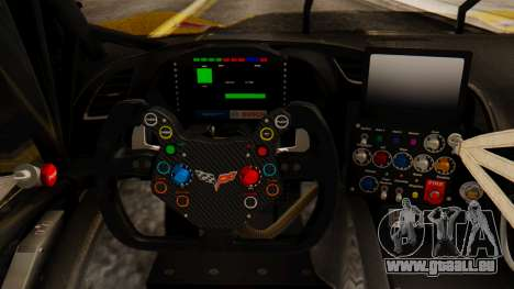 Chevrolet Corvette C7R GTE 2014 PJ2 für GTA San Andreas Rückansicht