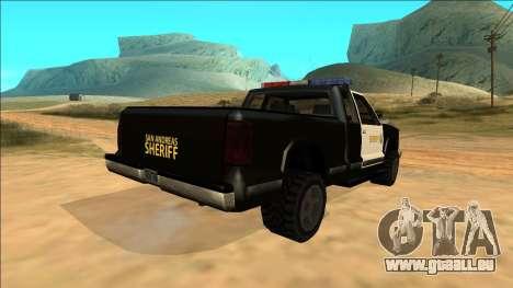New Yosemite Police v2 pour GTA San Andreas vue de côté