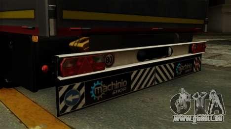 Flatbed3 Red pour GTA San Andreas vue de droite
