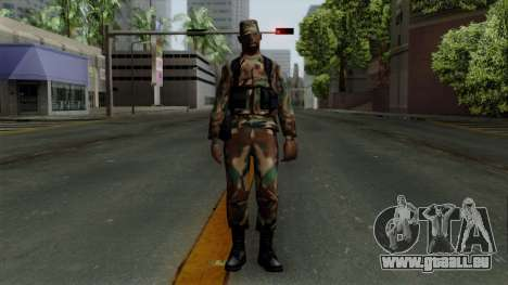 Der Afro-amerikanischen Soldaten in der standard für GTA San Andreas zweiten Screenshot