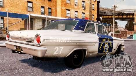 Ford Fairlane 1964 Police pour GTA 4 est une gauche