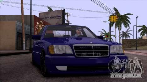 Mercedes-Benz S600 W140 pour GTA San Andreas moteur