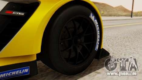Chevrolet Corvette C7R GTE 2014 PJ2 für GTA San Andreas zurück linke Ansicht
