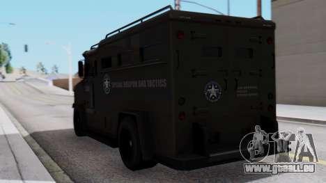 GTA 5 Enforcer S.W.A.T. für GTA San Andreas linke Ansicht