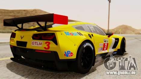 Chevrolet Corvette C7R GTE 2014 PJ2 für GTA San Andreas linke Ansicht