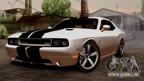 Dodge Challenger SRT8 392 2012 Stock Version 1.0 für GTA San Andreas Innenansicht