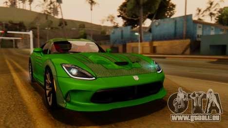 Dodge Viper SRT GTS 2013 IVF (HQ PJ) HQ Dirt für GTA San Andreas Seitenansicht