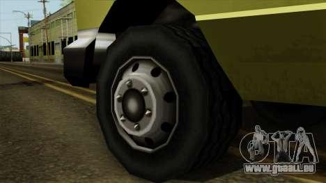 SAFD SAX Rescue Ambulance pour GTA San Andreas sur la vue arrière gauche