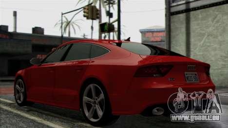 Audi RS7 2014 pour GTA San Andreas vue arrière