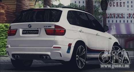 BMW X5M MPerformance Packet pour GTA San Andreas laissé vue