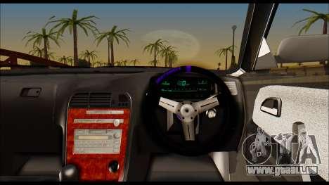 Toyota Mark 2 JZX 100 pour GTA San Andreas sur la vue arrière gauche