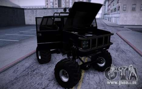 Huntley Monster v3.0 für GTA San Andreas Rückansicht