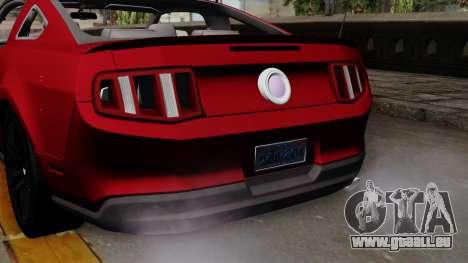 Ford Mustang GT 2010 für GTA San Andreas rechten Ansicht