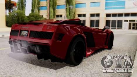 Lamborghini Gallardo J Style für GTA San Andreas linke Ansicht