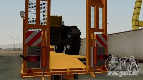 Trailer Fliegl Cargo für GTA San Andreas Rückansicht