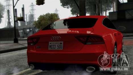 Audi RS7 2014 pour GTA San Andreas vue de droite