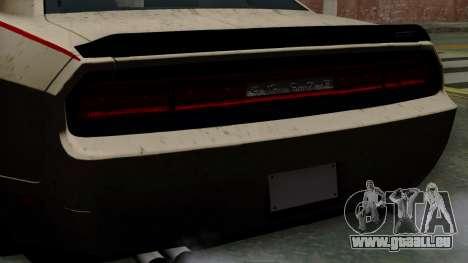 Dodge Challenger GT S pour GTA San Andreas vue de droite